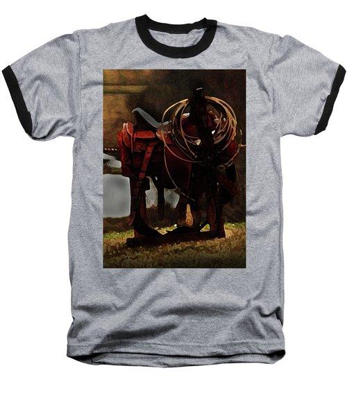Working Man's Saddle Baseball T-Shirt