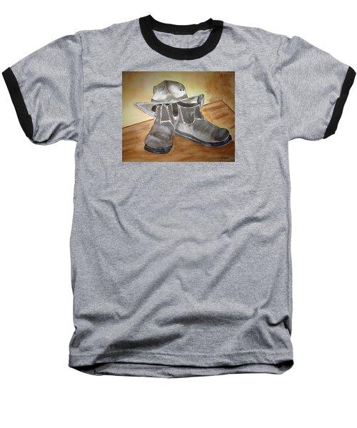 Working On The Land Baseball T-Shirt by Elvira Ingram