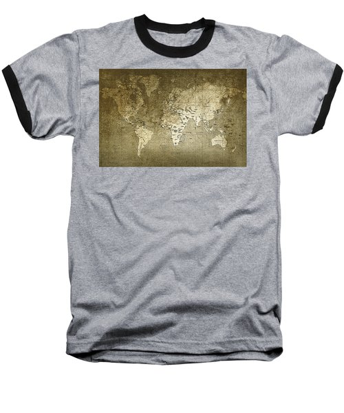 World Map Baseball T-Shirt