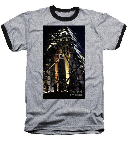 World Trade Center Museum At Night Baseball T-Shirt