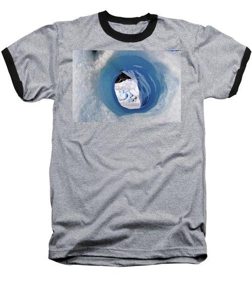 Wormhole 2 Baseball T-Shirt by Cathy Mahnke