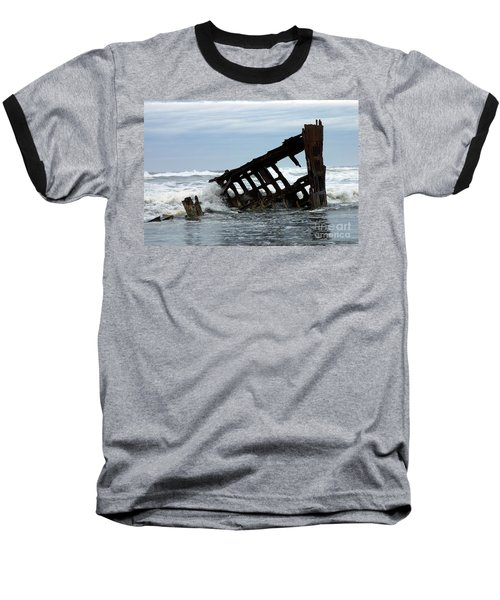 Baseball T-Shirt featuring the photograph Wreck Of The Peter Iredale by Chalet Roome-Rigdon