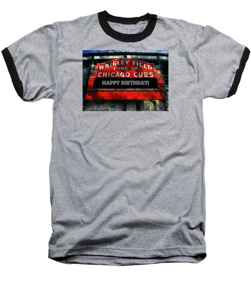 Wrigley Field -- Happy Birthday Baseball T-Shirt