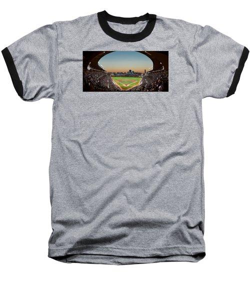 Wrigley Field Night Game Chicago Baseball T-Shirt