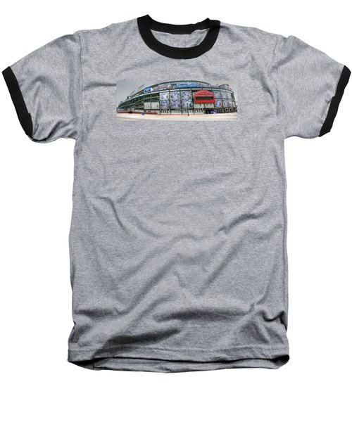Wrigley Field On Clark Baseball T-Shirt