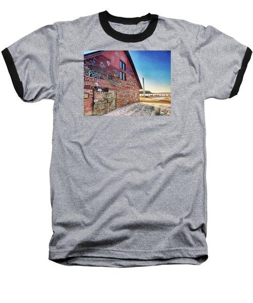 Writing On The Wall Baseball T-Shirt by Luke Collins