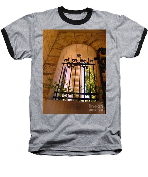 Baseball T-Shirt featuring the photograph Wrought Iron Arch Window 1 by Becky Lupe