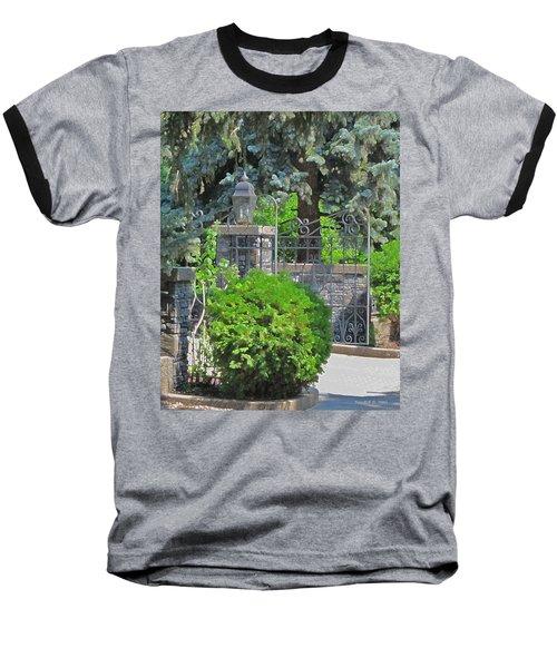Wrought Iron Gate Baseball T-Shirt