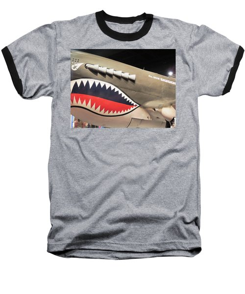 Wwii Shark Baseball T-Shirt