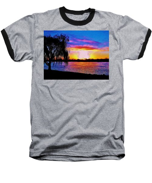 Baseball T-Shirt featuring the photograph Wyandotte Mi Sunrise by Daniel Thompson