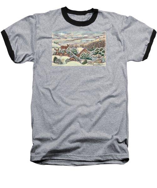 Wyoming Christmas Baseball T-Shirt