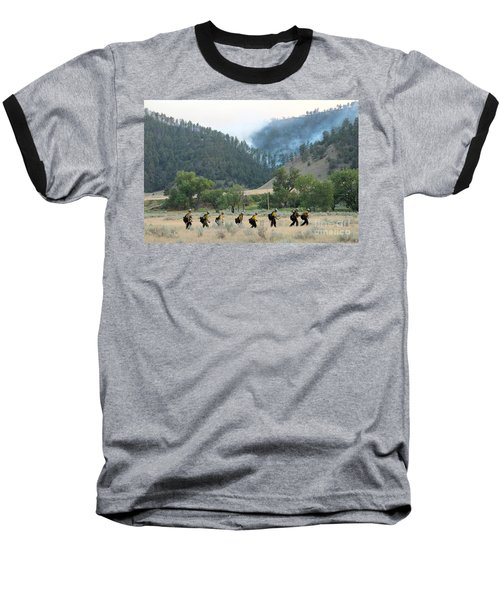 Wyoming Hot Shots Walk To Their Assignment Baseball T-Shirt