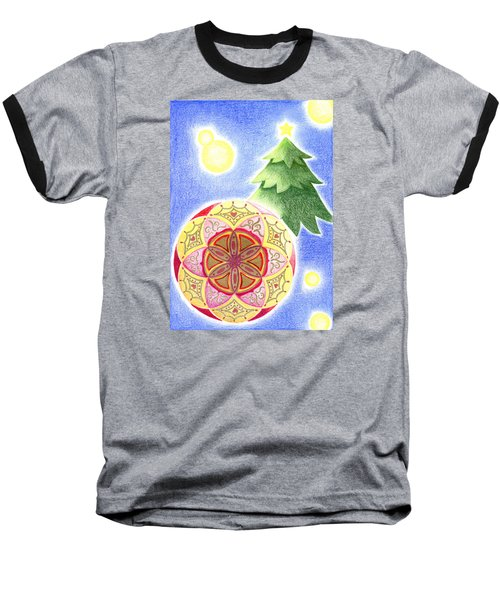 Baseball T-Shirt featuring the drawing X'mas Ornament by Keiko Katsuta