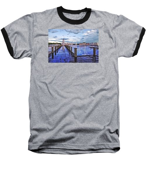 Yacht And Beach Club Lighthouse Baseball T-Shirt by Thomas Woolworth