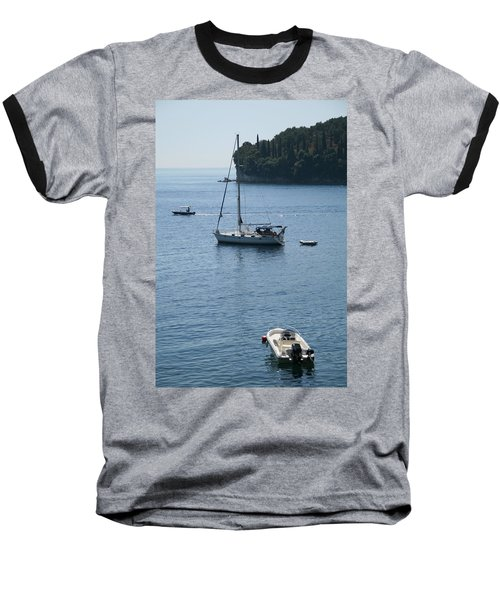 Yachts At Anchor Baseball T-Shirt