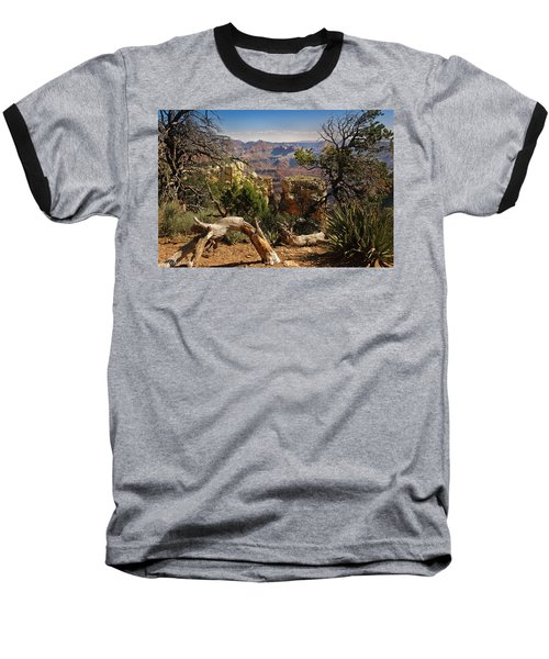 Baseball T-Shirt featuring the photograph Yaki Point 4 The Grand Canyon by Bob and Nadine Johnston