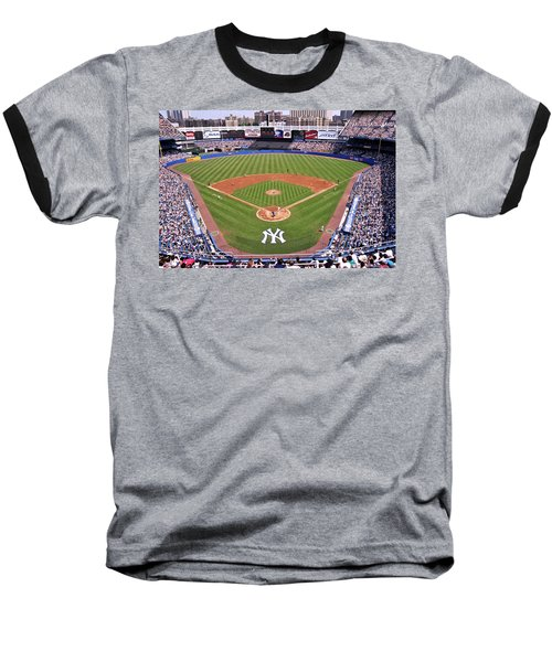 Yankee Stadium Baseball T-Shirt by Allen Beatty