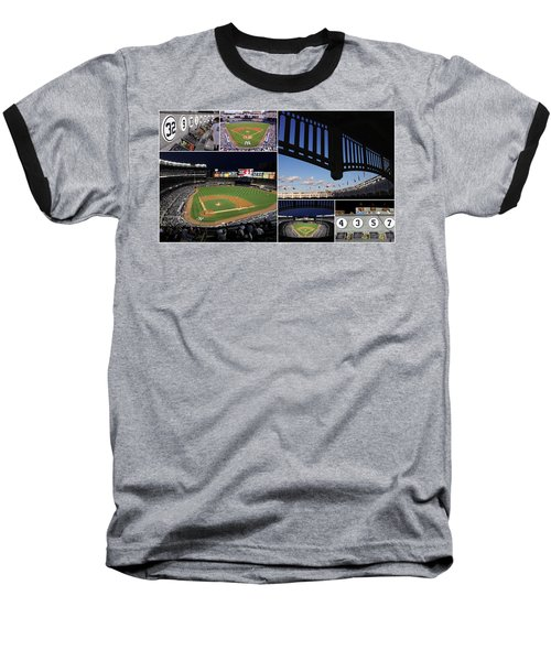 Yankee Stadium Collage Baseball T-Shirt