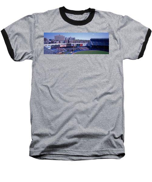 Yankee Stadium Ny Usa Baseball T-Shirt by Panoramic Images