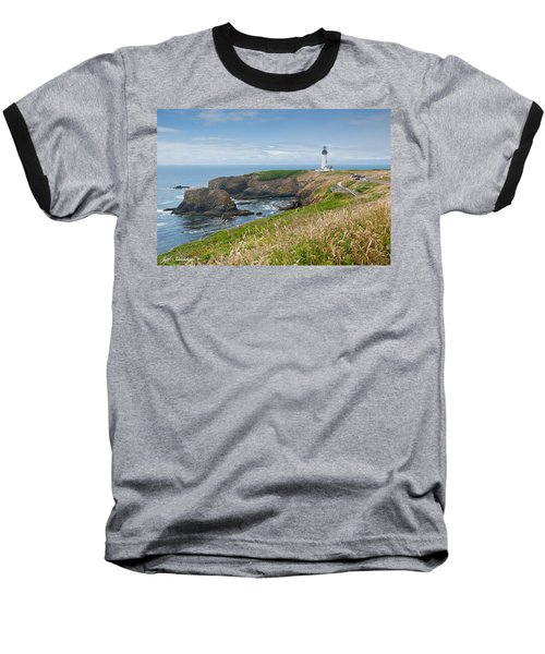 Baseball T-Shirt featuring the photograph Yaquina Head Lighthouse by Jeff Goulden