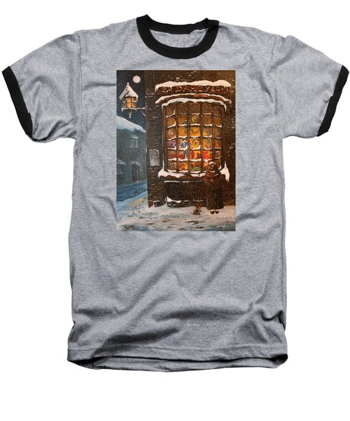 Baseball T-Shirt featuring the painting Ye Old Toy Shoppe by Jean Walker