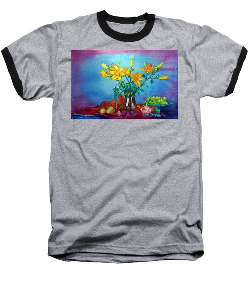 Yellow Lily In A Vase Baseball T-Shirt