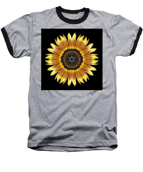 Yellow And Brown Sunflower Flower Mandala Baseball T-Shirt