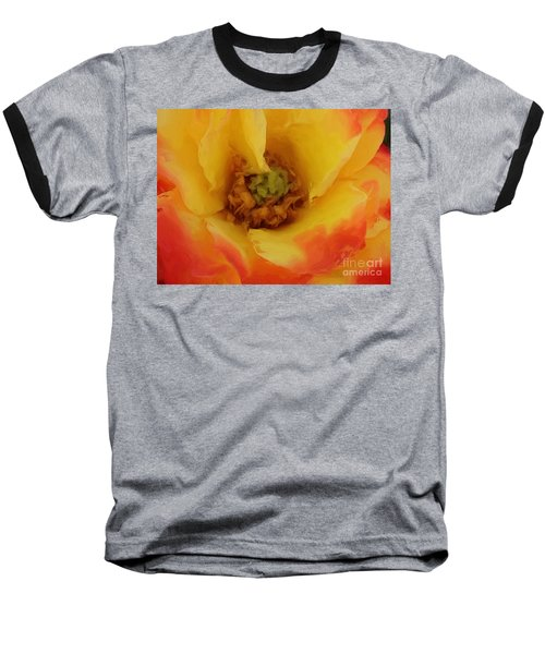 Yellow And Orange Rose Baseball T-Shirt