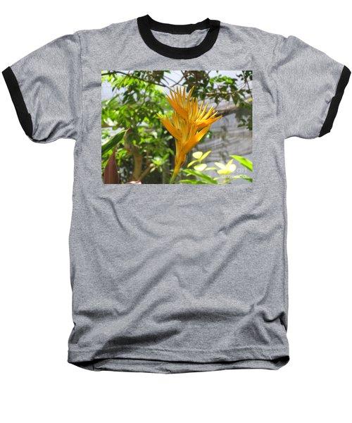 Yellow Bird Of Paradise Baseball T-Shirt