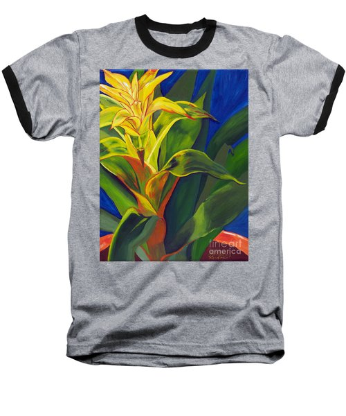 Yellow Bromeliad Baseball T-Shirt