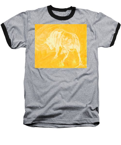 Yellow Bull Negative Baseball T-Shirt