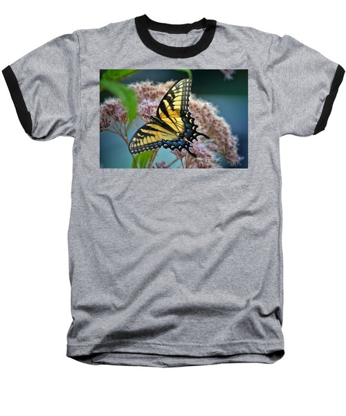 Yellow Butterfly Baseball T-Shirt