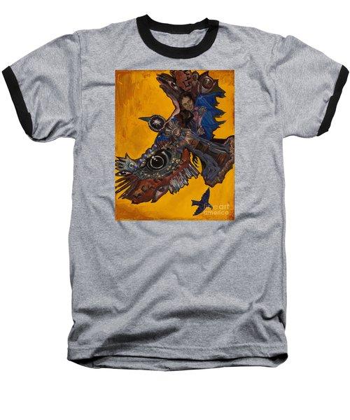 Yellow Crow Baseball T-Shirt by Emily McLaughlin