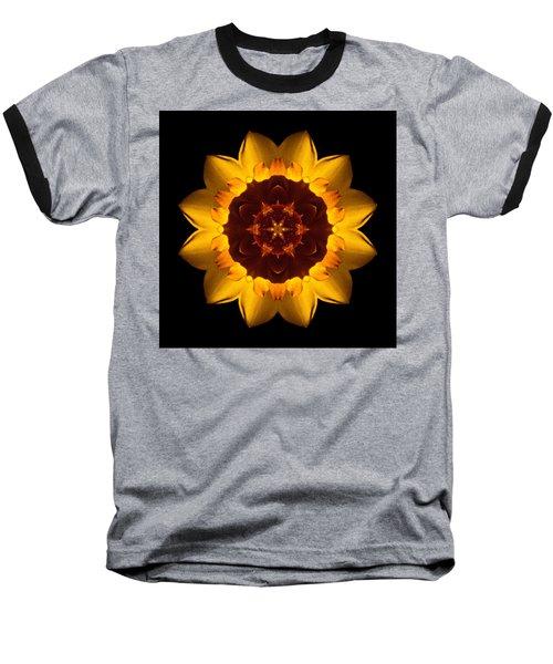 Yellow Daffodil I Flower Mandala Baseball T-Shirt