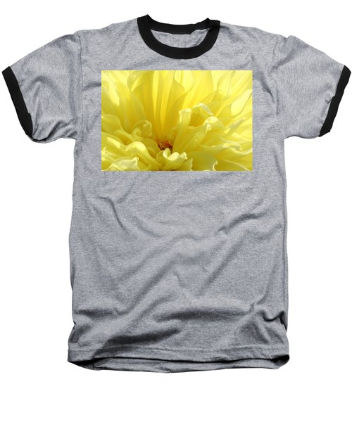 Yellow Dahlia Burst Baseball T-Shirt