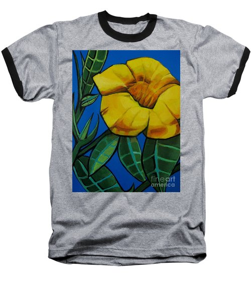 Yellow Elder - Flower Botanical Baseball T-Shirt