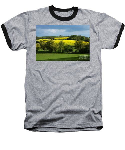 Yellow Fields In The Sun Baseball T-Shirt