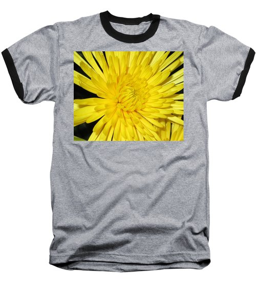 Baseball T-Shirt featuring the photograph Yellow Flower Closeup by Barbara Yearty