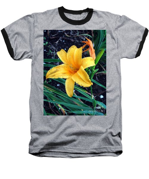 Baseball T-Shirt featuring the photograph Yellow Flower by Sergey Lukashin