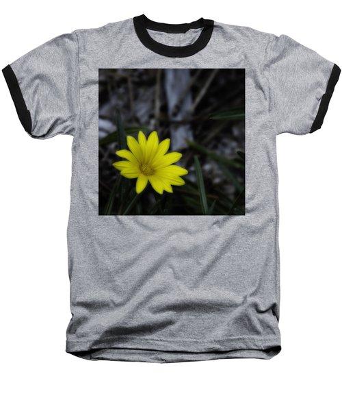 Yellow Flower Soft Focus Baseball T-Shirt