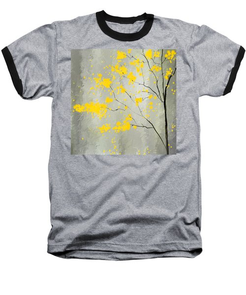 Yellow Foliage Impressionist Baseball T-Shirt