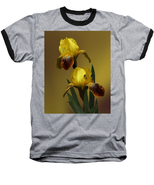 Baseball T-Shirt featuring the photograph Yellow Iris by Judy  Johnson