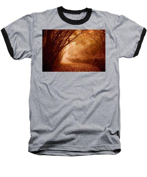 Yellow Leaf Road Baseball T-Shirt