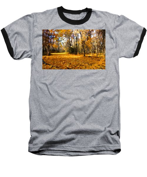 Yellow Leaf Road Baseball T-Shirt