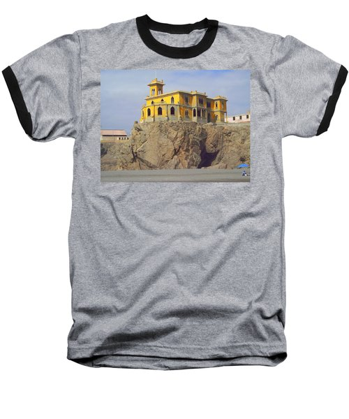 Baseball T-Shirt featuring the photograph Yellow On The Rocks by Lew Davis