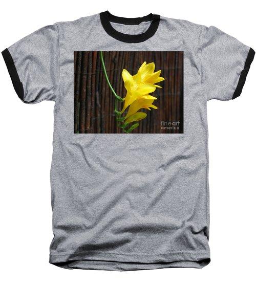 Yellow Petals Baseball T-Shirt by HEVi FineArt