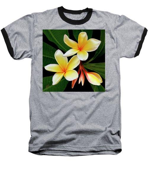 Yellow Plumeria Baseball T-Shirt