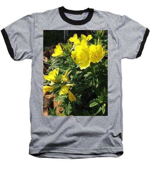 Yellow Primroses Baseball T-Shirt