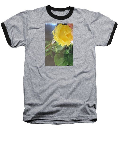 Yellow Rose- Greeting Card Baseball T-Shirt