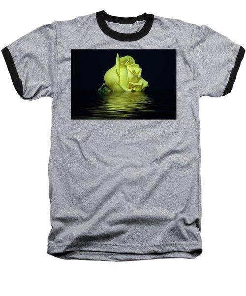 Yellow Rose II Baseball T-Shirt by Sandy Keeton